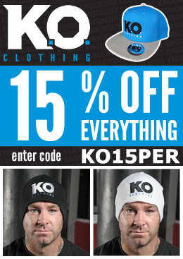 Knockout Clothing end of January Sale! 15% OFF everything.
