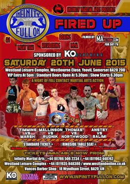 Fight Week! Infinity Full On - Fired Up fight night in Yeovil, Somerset