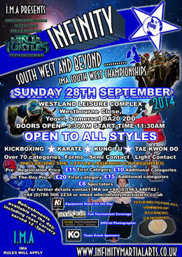 Knockout Clothing sponsoring Infinity Martial Arts South West Championships in Yeovil