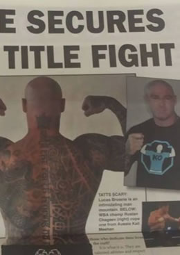 Knockout Clothing's Lucas 'Big Daddy' Browne Secures Title Fight!