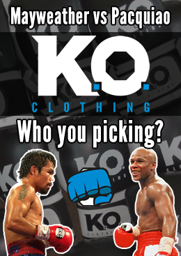 Floyd Mayweather Jr vs Manny Pacquiao - Who you picking? Knockout Clothing