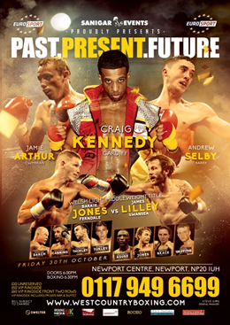 Past, Present, Future Fight Night live on Eurosport at the Newport Centre on Friday 30th October!