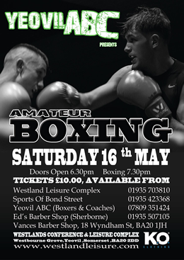 Knockout Clothing is sponsoring Infinity Yeovil ABC Amateur Boxing show in Yeovil, Somerset