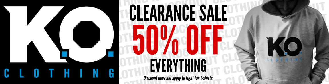 Clearance - 50% OFF all K.O. Clothing lines!