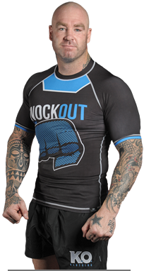 K.O. Clothing's Lucas 'Big Daddy' Browne sporting the Knockout Rash Guard!
