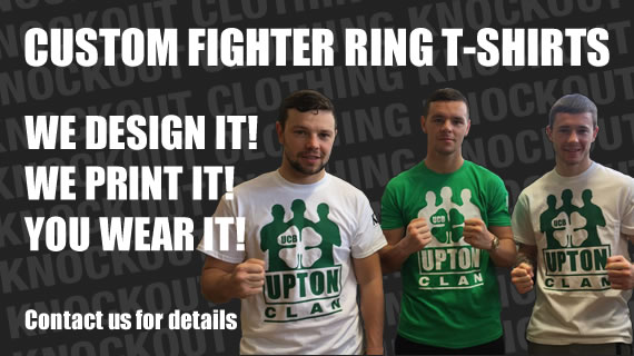 Custom Fighter Ring T-Shirts!