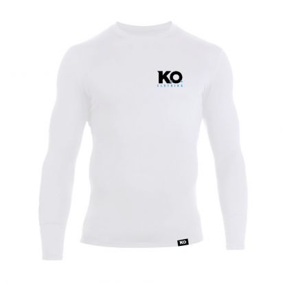 Long Sleeve Training Top White