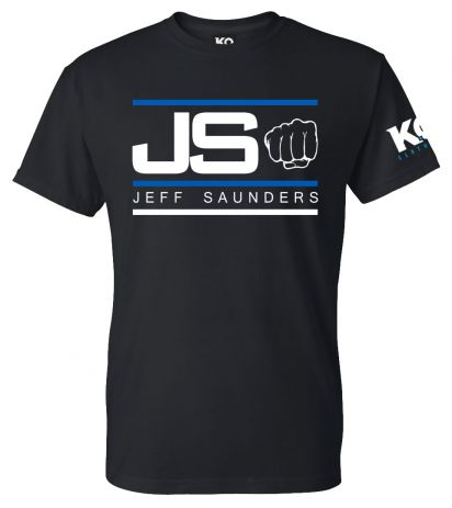 Team Saunders (Jeff) Fight Night T-Shirt