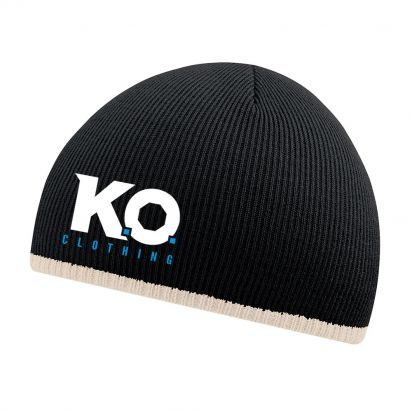 Two-Tone Beanie Black/ Stone