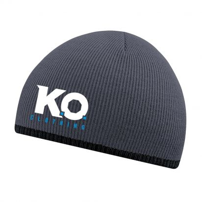 Two-Tone Beanie Grey/ Black