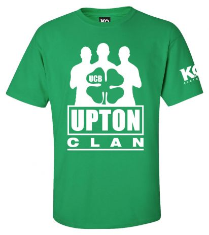 Upton Clan Fight Night T-Shirt Green