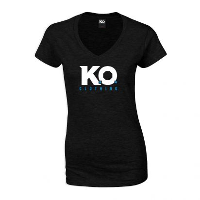 Women's V-Neck T-Shirt Black